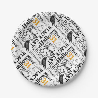 Halloween 8' Paper Plates - Party