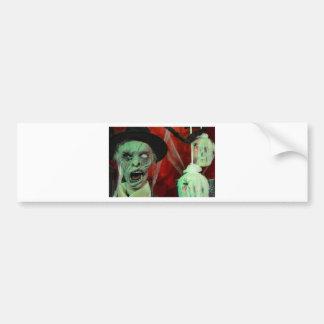 halloween-9907-scarry-ugly-zombie-undead,decoratio car bumper sticker