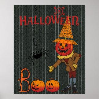 Halloween: A Bootiful Vintage Pumpkin Witch Poster
