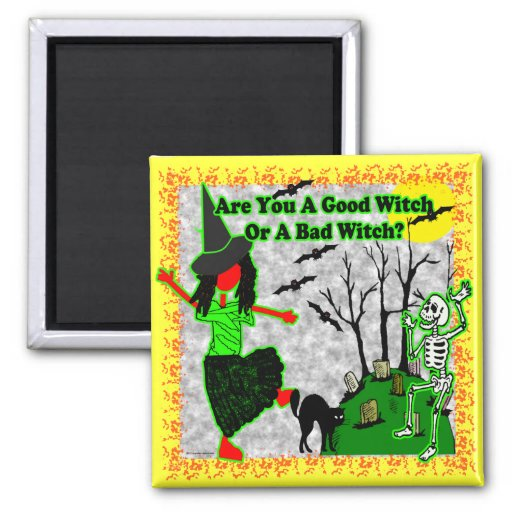 Halloween - A Good Witch? 2 Inch Square Magnet