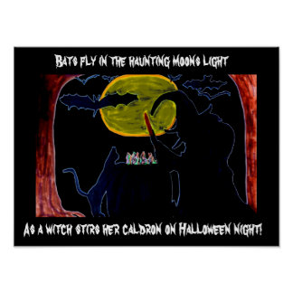 HALLOWEEN A WITCH AND HER CALDRON poster
