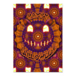 Halloween Abstract Cat - o - Lantern 5x7 Paper Invitation Card