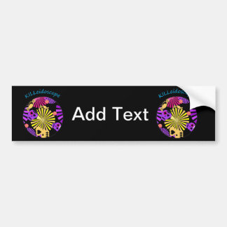 Halloween Abstract esign Skulls and Candy Bumper Sticker