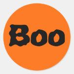 """Halloween """"abucheo """" pegatina redonda"""