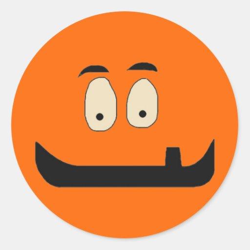 Halloween adaptable adorable tonto, divertido hace pegatina redonda