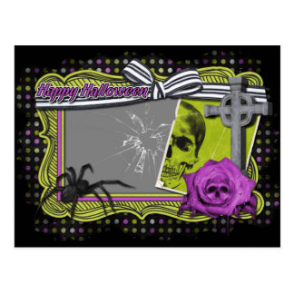 Halloween ADD YOUR PHOTO Cracked Glass Post Cards