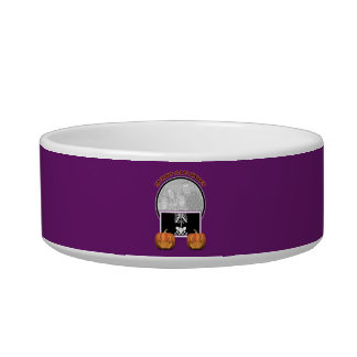 Halloween - ADD YOUR PHOTO - Just a Lil Spooky Pet Water Bowl