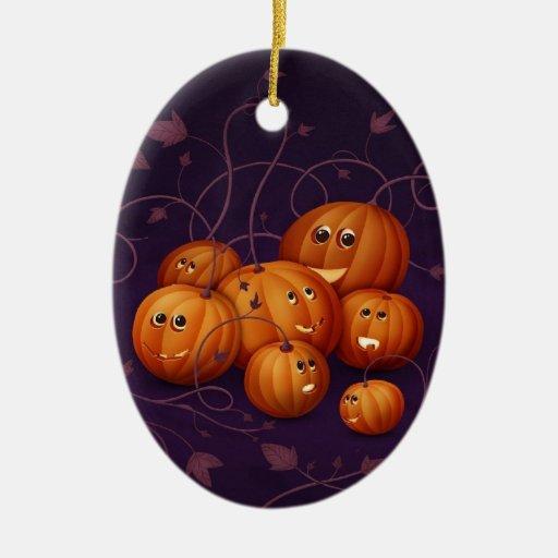 Halloween Adorno Ovalado De Cerámica