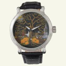 Halloween,adult,watch,ghosts,Jack-O-Lanterns Watch