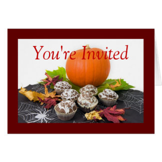 Halloween adulto invita a la tarjeta