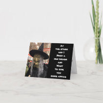 ***HALLOWEEN ADVICE FROM A WITCH?*** CARD