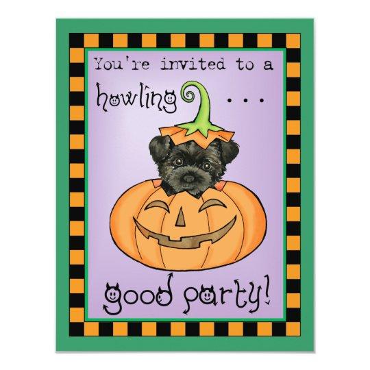 Halloween Affenpinscher Card