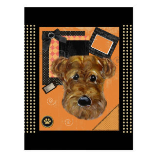HALLOWEEN AIREDALE POSTCARD