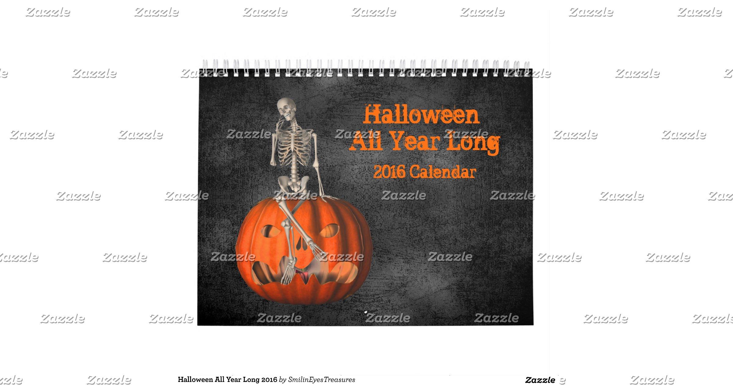 halloween_all_year_long_2016_calendar - 2016 Halloween Calendar