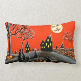 Halloween, almohada, Jack-O-Linternas, brujas, lun