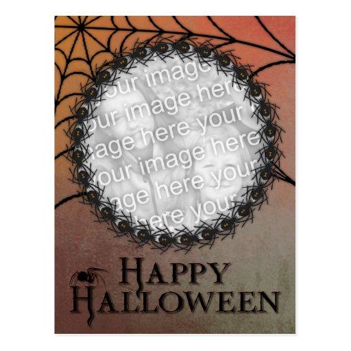 Halloween AÑADE SU marco de la araña de la viuda Tarjetas Postales
