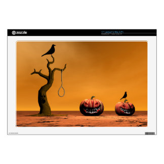 "halloween and pumpkin 17"" laptop skin"