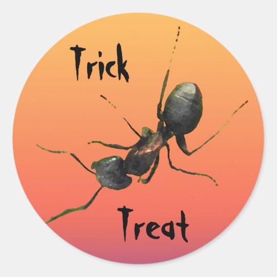 Halloween Ant Classic Round Sticker