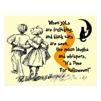 Halloween Anthropomorphic JOLs Postcard Old-style