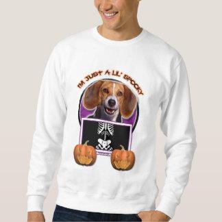 Halloween - apenas un Lil fantasmagórico - beagle Sudadera