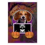 Halloween - apenas un Lil fantasmagórico - beagle Tarjeta De Felicitación