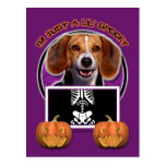 Halloween - apenas un Lil fantasmagórico - beagle Postal