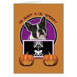 Halloween - apenas un Lil fantasmagórico - Boston  Felicitación