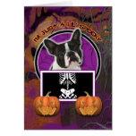 Halloween - apenas un Lil fantasmagórico - Boston  Tarjetón
