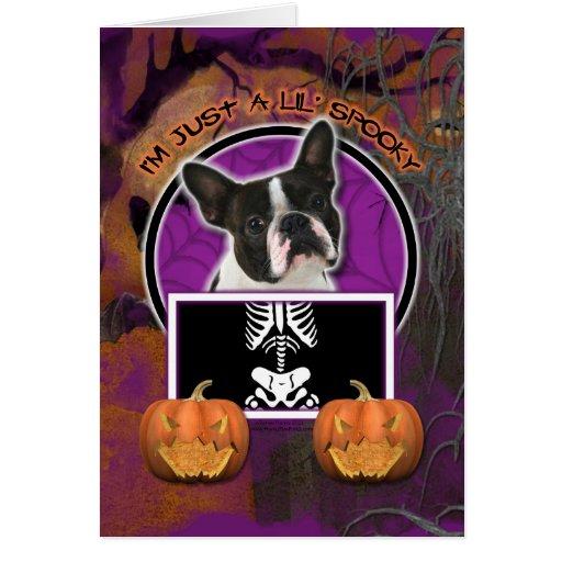Halloween - apenas un Lil fantasmagórico - Boston Tarjeta De Felicitación
