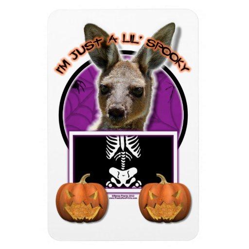 Halloween - apenas un Lil fantasmagórico - canguro Imanes Rectangulares