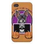 Halloween - apenas un Lil fantasmagórico - chihuah iPhone 4 Fundas