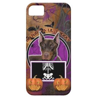 Halloween - apenas un Lil fantasmagórico - Doberma iPhone 5 Case-Mate Fundas