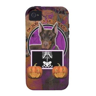 Halloween - apenas un Lil fantasmagórico - Doberma iPhone 4 Carcasa