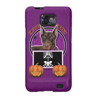 Halloween - apenas un Lil fantasmagórico - Doberma Samsung Galaxy S2 Carcasa