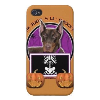 Halloween - apenas un Lil fantasmagórico - Doberma iPhone 4 Cárcasas