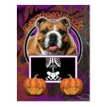 Halloween - apenas un Lil fantasmagórico - dogo Postal