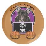 Halloween - apenas un Lil fantasmagórico - Frenchi Plato Para Fiesta