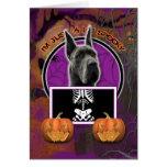 Halloween - apenas un Lil fantasmagórico - great d Tarjeton