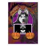 Halloween - apenas un Lil fantasmagórico - husky s Tarjetón