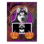 Halloween - apenas un Lil fantasmagórico - husky Postal