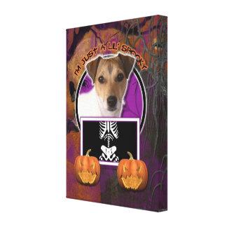 Halloween - apenas un Lil fantasmagórico - Jack Ru Impresión En Lona Estirada