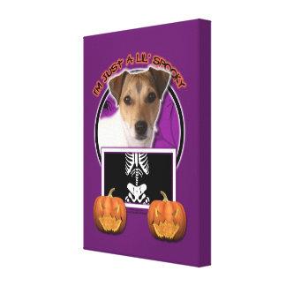 Halloween - apenas un Lil fantasmagórico - Jack Ru Impresión En Lienzo Estirada