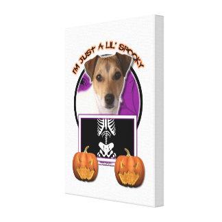 Halloween - apenas un Lil fantasmagórico - Jack Ru Lona Envuelta Para Galerías
