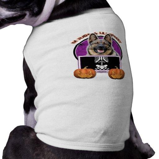 Halloween - apenas un Lil fantasmagórico - pastor  Playera Sin Mangas Para Perro