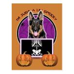Halloween - apenas un Lil fantasmagórico - pastor Postal