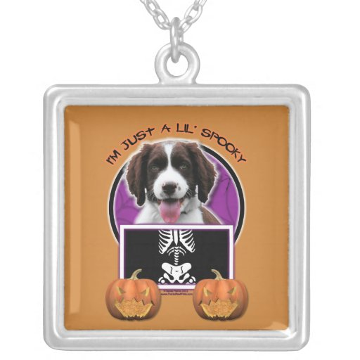 Halloween - apenas un Lil fantasmagórico - perro d Colgante Cuadrado