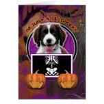 Halloween - apenas un Lil fantasmagórico - perro d Felicitación