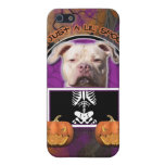 Halloween - apenas un Lil fantasmagórico - Pitbull iPhone 5 Cárcasas