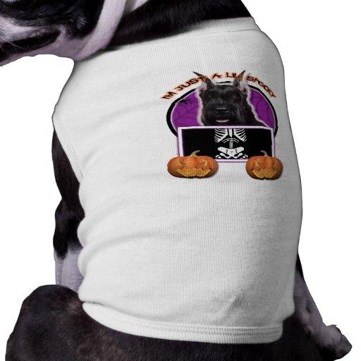 Halloween - apenas un Lil fantasmagórico - Schnauz Camisetas De Perro