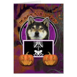 Halloween - apenas un Lil fantasmagórico - Shiba I Tarjetas
